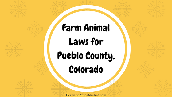 Farm animal laws for Pueblo county Colorado
