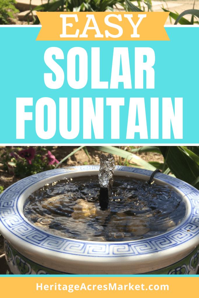 diy solar water fountain